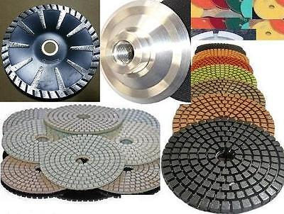 5 Inch Diamond Best Quality Polishing 12 Pad Convex Blade Aluminum Back Granite