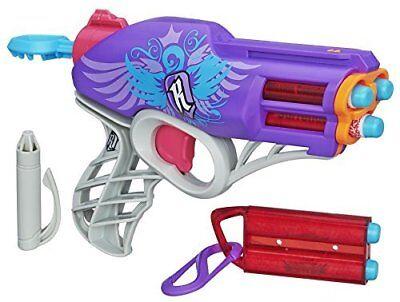 NERF Rebelle Messenger Blaster Girls Soft Foam Dart Toy Gun