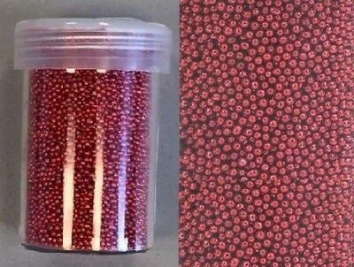 Mini pearls Perlen Kugeln o.Loch für Shakercard Schüttelkarten rot 801580/4204