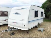ADRIA ALTEA 432 PX CARAVAN FIXED BED, 2005, LIGHTWEIGHT, WITH AWNING & EXTRAS, READY TO HOLIDAY!