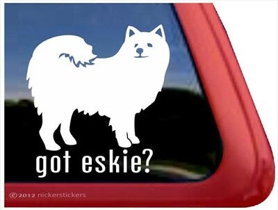 Got Eskie? | American Eskimo Dog Vinyl Window Decal Sticker American Eskimo Dog Sticker