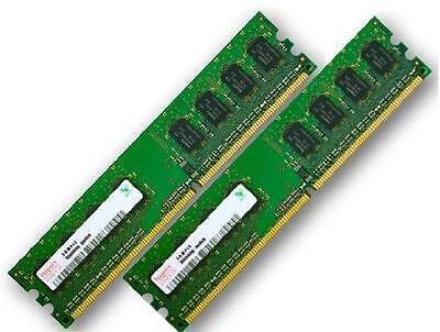 2x 1GB 2GB RAM PC Speicher 667 Mhz DDR2 PC2-5300U 240 pin DIMM Arbeitsspeicher online kaufen