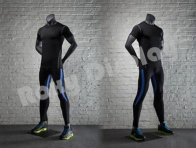 Male Fiberglass Headless Athletic Style Mannequin Dress Form Display Mz-ni-1