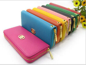 New-Women-Fashion-PU-Leather-Wallet-Zip-Around-Case-Purse-Lady-Long-Handbag-Bag