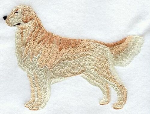 Large Embroidered Zippered Tote - Golden Retriever I1203