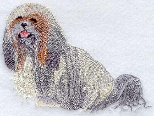 Embroidered Ladies Fleece Jacket - Lhasa Apso I1165 S - XXL