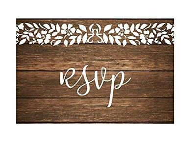 20 RSVP Post Cards for wedding Invitation Response Rustic White Lace Postcards ](Post Wedding Invitations)