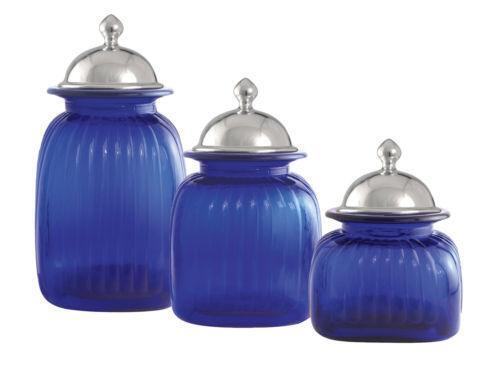 royal blue kitchen accessories glass canister ebay 4909
