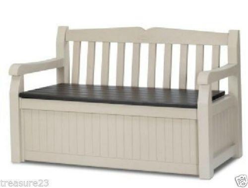 Outdoor Storage Bench | EBay