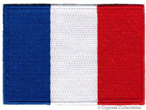 FRENCH FLAG embroidered iron-on PATCH FRANCE EMBLEM new APPLIQUE PARIS SOUVENIR