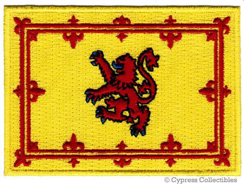 SCOTLAND FLAG iron-on PATCH SCOTTISH ROYAL STANDARD LION RAMPANT applique NEW