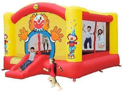 Hüpfburg HappyHop Super Clown 18,5m² - 9014N inkl. Gebläse Hopseburg Springburg