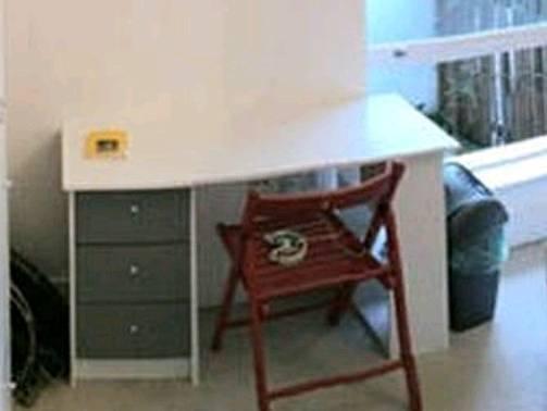 HOME New Malibu 3 Drawer Desk - white