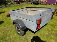 Trailer 4x3 with spare wheel and security locks