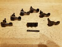 Black Chome Gotoh Tuneing Pegs (Tuners) & Matching Schaller Locking Nut