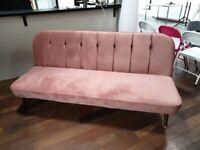 Margot pink velvet sofa excellent state