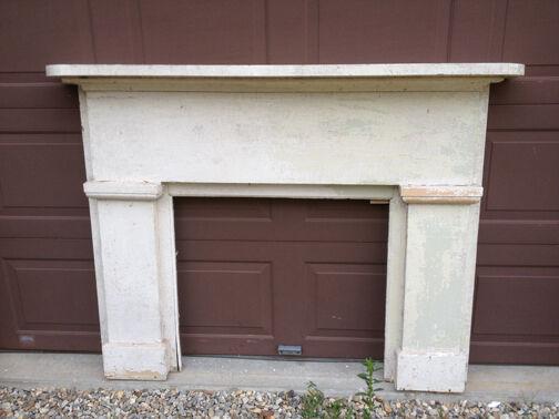 Antique Pine Fireplace Mantel 1800s