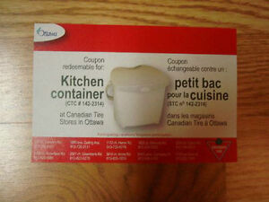 Brand New Unused Kitchen Compost Bin Counter Coupon - $2