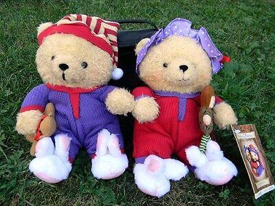 NEW with TAG Hallmark STORYBOOK FRIENDS Crayola HUNKY & DORIE Teddy BEARS