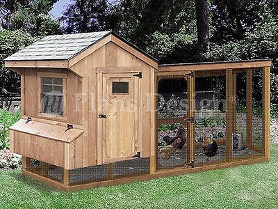 Chicken Coop Plans With Kennel 4 X 10 Saltbox Lean-to Design 50410sl