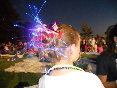 New Years Eve Party Lights Fiber Optic Decoration Hair LED Glow Costume Clips (Glow New Years Eve)