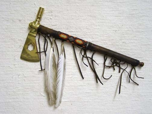 Native American Brass Head SmokerHawk with Turtle Cutout