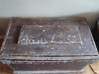 Large Wood Tool Box - handmade by someone who shouldnt have