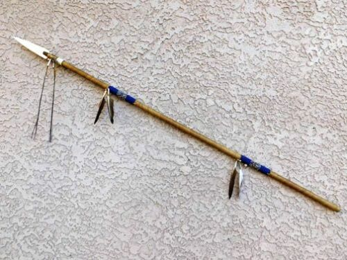 North American Navajo Made Beaded Warrior Spear 54 Inches