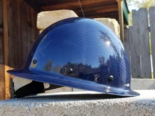 carbon fiber hard hat full brim Blue ANSI/ISEA Certified