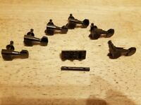 Black Chome Gotoh Tuneing Pegs (Tuners) & Matching Schaller Locking Nut