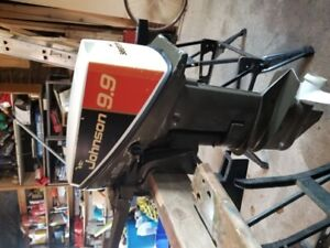 9.9 hp Johnson outboard motor mint condition
