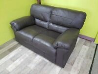 2 Seater Faux Leather Sofa - Can Deliver For £19