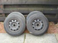 VW Golf Steel Wheels & Tyres (Fits many VW Models)