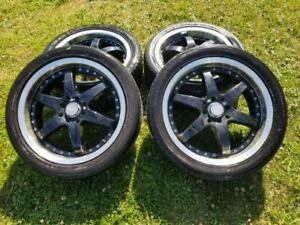 17 inch mags for sale 4*114.3/100 (tires are 215/45r17)