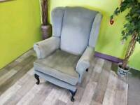 Green Wingback Armchair - Can Deliver For £19