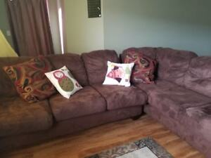 Soft, Cozy Brown Comfortable Sofa- Microfiber Couch
