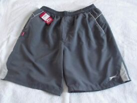 SLAZENGER MENS XXL POLYESTER SHORTS, BRAND NEW WITH TICKET ( GREY )