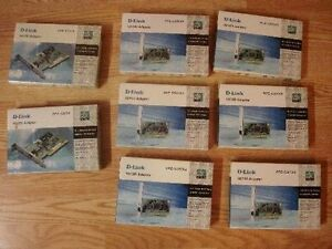 8 Brand New D-Link Dual-speed 10/100 PCI Adapters - $5 each