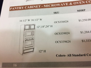 BRAND NEW in box wall oven/microwave cabinet for sale