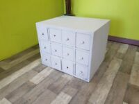 Dark Wood Chest Of 12 Drawers - Can Deliver For £19