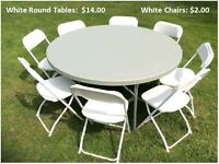 Chairs and Tables for Holiday events