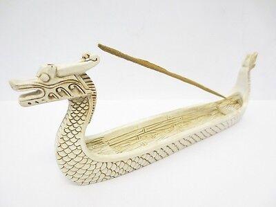 Räucherstäbchenhalter Drachenboot Weiß chinesisch