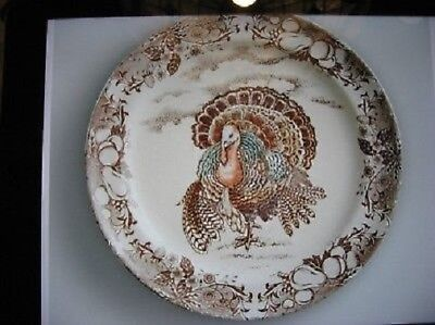 Pottery Barn Set 4 Traditional Turkey Salad Plates Dessert Thanksgiving NIB - Thanksgiving Plates