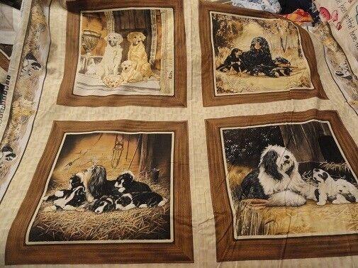 Fabric Panels May Gordon Setter Bearded Collie Old English Sheepdog Golden LAST*