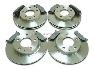FRONT & REAR BRAKE DISCS AND PADS SET NEW FOR FORD PROBE & MAZDA MX6