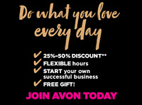 Have you thought about being an Avon rep?