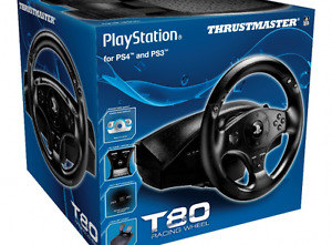 Thrustmaster T80 Racing Wheel (PS4/PS3) - NEW in box