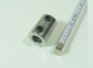 Shaft Coupler 1/4 inch to 1/4 inch with 2 Stainless Steel Set Screws NEW