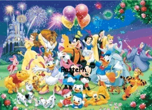 Disney Heroes #10. Counted Cross Stitch Pattern. Paper version or PDF files.
