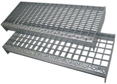 Meastep Gitterrost-Treppenstufe XSL 1000x270 mm MW 30/30 verzinkt (1012)